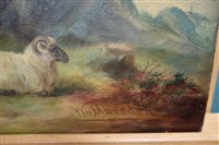 Lot 47-William Marsden (early 20th century) sheep in a landscape