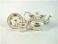 Lot 28 - A Coalport style ornithological tea service