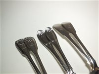 Lot 13-Three pairs of silver tablespoons