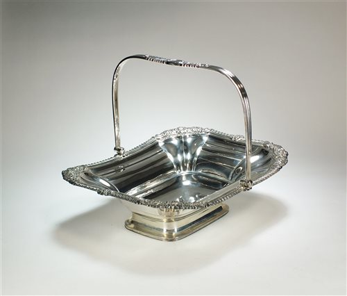 Lot 31-A George III Scottish silver cake basket