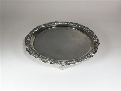 Lot 14-A George III Scottish silver salver