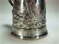 Lot 24-A George III silver tankard