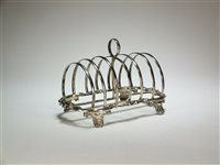 Lot 20-A Victorian silver toast rack
