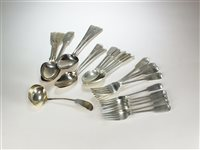 Lot 35-A collection of silver flatware