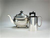 Lot 42-A silver mug and teapot
