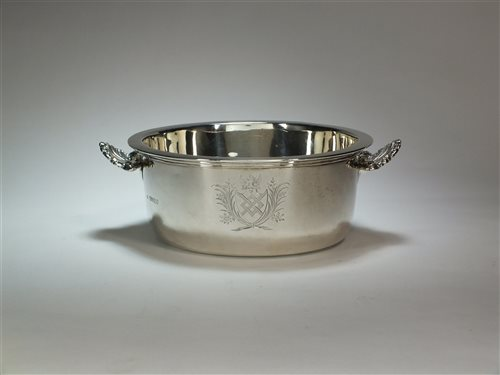 Lot 9-A Victorian silver soufflé dish