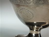 Lot 4-A George III silver sugar basket