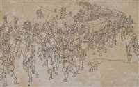 Lot 59-Follower of Pieter Bruegel, Army on the March