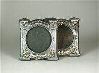Lot 116 - A pair of Art Nouveau silver frames