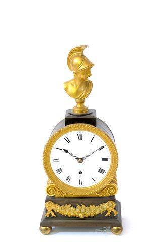 431 - A late Regency ormolu and bronze library timepiece, circa 1820