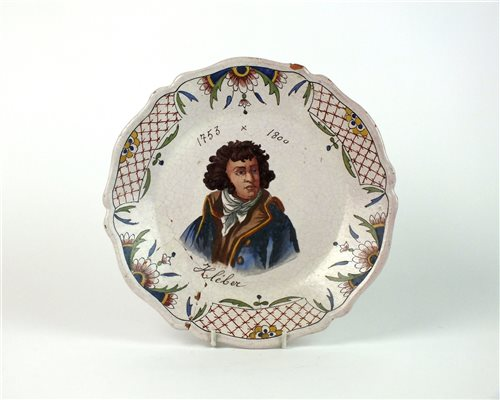 Lot 54-A 19th century Rouen faience plate