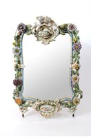 Lot 51-A Meissen porcelain mirror