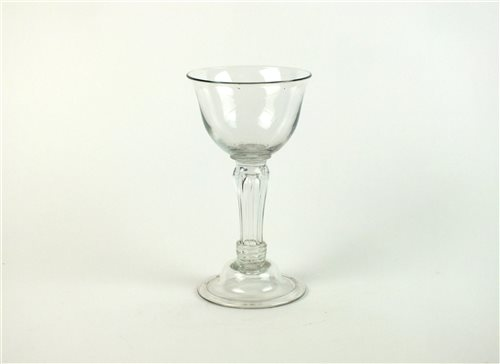 Lot 18-An 18th century balustroid sweetmeat glass