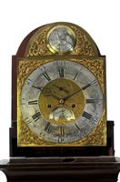 Lot 701-A George III mahogany and satinwood longcase clock
