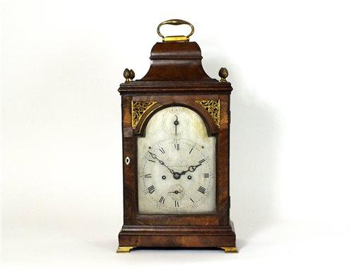 445 - A George III mahogany cased bracket clock, late 18th century