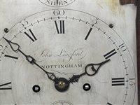 Lot 445 - A George III mahogany cased bracket clock, late 18th century