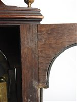 Lot 445 - A George III mahogany cased bracket clock, late 18th century