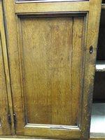 Lot 547-A Regency oak and ebony strung house keeper's cupboard