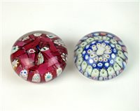Lot 13-Two Arculus glass paperweights