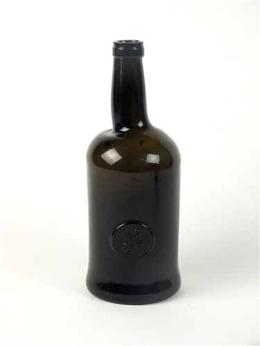 Lot 2-An Oxford University sealed wine cylinder wine bottle