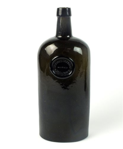 Lot 3-A sealed cylinder wine bottle for Thomas Gerrard of Gibbstown