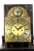 Lot 716-A George III cottage long case clock
