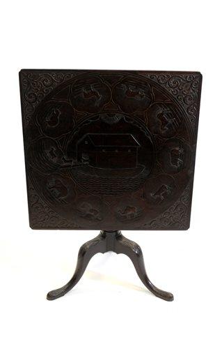 Lot 509-A George III mahogany tilt top tripod table