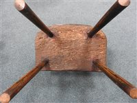 Lot 524-An elm and ash vernacular stick back chair