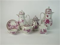 Lot 46-A Meissen porcelain tea and coffee service