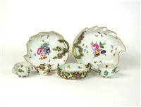 Lot 47-A pair of Meissen leaf dishes