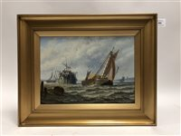 Lot 49 - Stuart H Bell, Prison hulk and other shipping along the coast
