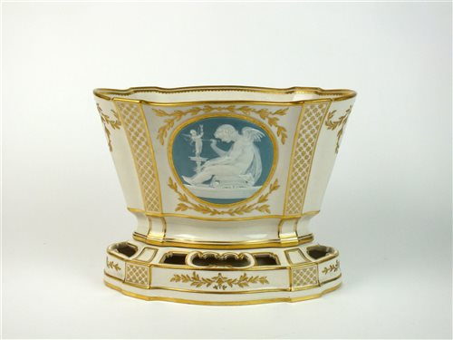 Lot 41-A Mintons porcelain pâte-sur-pâte vase