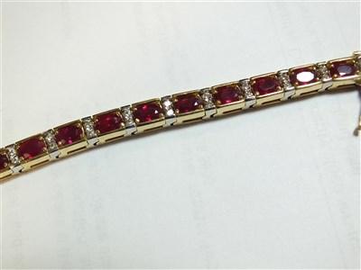 Lot 160-A ruby and diamond bracelet
