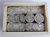 Lot 244-A Chinese export carved ivory gaming counter box, Canton, early 19th century