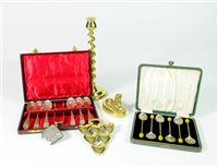 Lot 26-A collection of silver, plate and brass