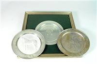 Lot 21-Three silver plates
