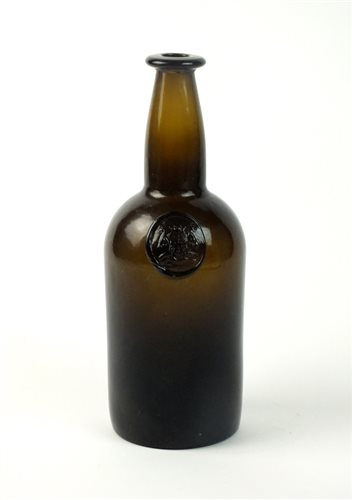 Lot 10-An early 19th  century sealed cylinder wine bottle