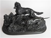 Lot 189-A cast iron after P J Mene, the partridge hunt