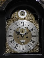 Lot 194-A George II gilt japanned long case clock, mid 18th century
