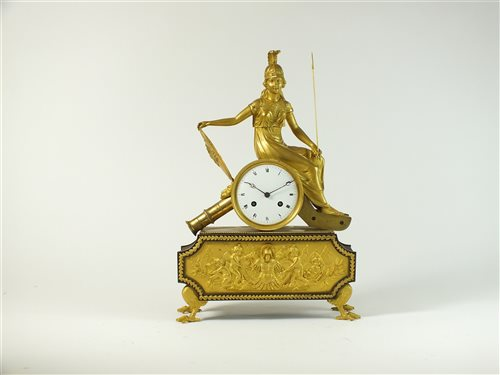 469 - French Empire mantel clock attributed to Pierre Philippe Thomire