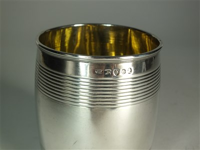 Lot 56-A George III silver beaker