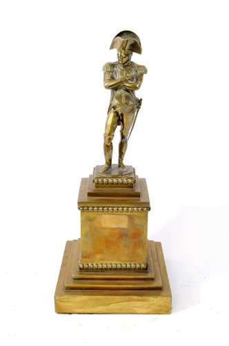 Lot 176-A French gilt bronze of Napoleon, 19th century