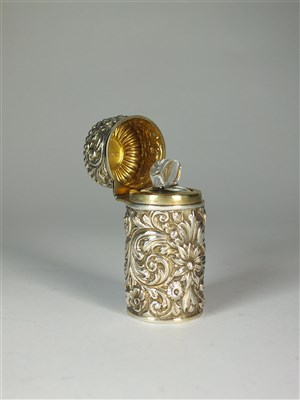 Lot 21-A Sampson & Mordan silver mounted scent bottle