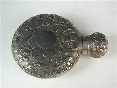 Lot 73-A Victorian silver scent bottle