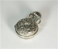 Lot 88-A silver cased scent bottle