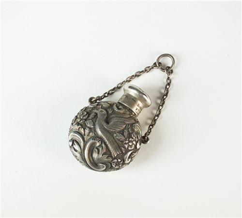 Lot 49-A Sampson & Mordan miniature silver scent bottle