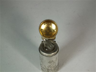 Lot 80-A Victorian silver mounted scent bottle