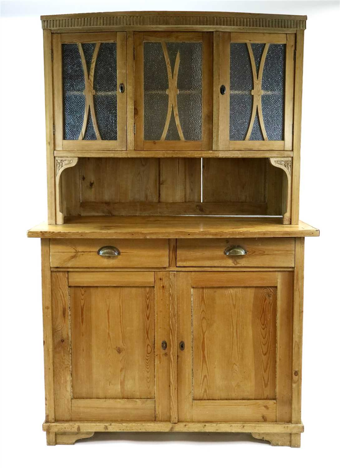 Lot 387 A Small Scrubbed Pine Kitchen Dresser With A