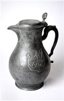 Lot 738-A Continental 18th century pewter flagon