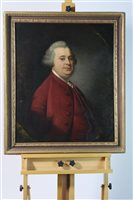 Lot 65-English school, late 18th century portrait